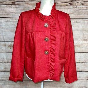 J. Crew Fiona Herringbone Wool Jacket